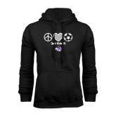 Black Fleece Hoodie-Just Kick It Soccer Design