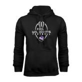 Black Fleece Hoodie-Tall Football Design