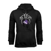 Black Fleece Hoodie-Design On Basketball