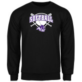 ACU Wildcat Black Fleece Crew-Softball Bats and Plate Design