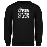 Black Fleece Crew-Cheer, Cheer, Cheer