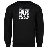 Black Fleece Crew-Cheer, Cheer, Cheer