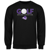 ACU Wildcat Black Fleece Crew-Golf Ball Design