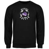 ACU Wildcat Black Fleece Crew-Soccer Ball Design