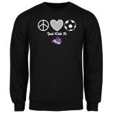 Black Fleece Crew-Just Kick It Soccer Design