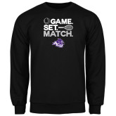 ACU Wildcat Black Fleece Crew-Game Set Match Tennis Design
