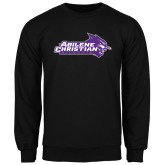 ACU Wildcat Black Fleece Crew-Primary Logo