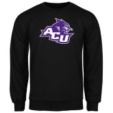 ACU Wildcat Black Fleece Crew-Angled ACU w/Wildcat Head