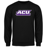 ACU Wildcat Black Fleece Crew-ACU Wildcats