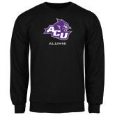 ACU Wildcat Black Fleece Crew-Alumni