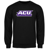 ACU Wildcat Black Fleece Crew-Softball