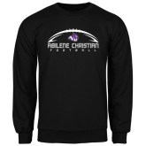 ACU Wildcat Black Fleece Crew-Wide Football Design