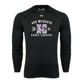 ACU Wildcat Under Armour Black Long Sleeve Tech Tee-Cross Country Design