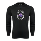 ACU Wildcat Under Armour Black Long Sleeve Tech Tee-Soccer Ball Design