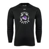 ACU Wildcat Under Armour Black Long Sleeve Tech Tee-Soccer Ball Design