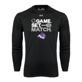 ACU Wildcat Under Armour Black Long Sleeve Tech Tee-Game Set Match Tennis Design