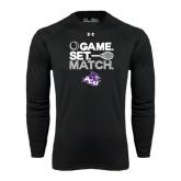 ACU Wildcat Under Armour Black Long Sleeve Tech Tee-Game Set Match Tennis Design