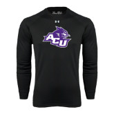 Under Armour Black Long Sleeve Tech Tee-Angled ACU w/Wildcat Head