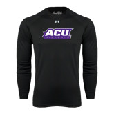 ACU Wildcat Under Armour Black Long Sleeve Tech Tee-ACU Wildcats