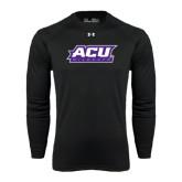 ACU Wildcat Under Armour Black Long Sleeve Tech Tee-ACU Wildcats