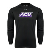 ACU Wildcat Under Armour Black Long Sleeve Tech Tee-Football