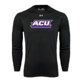 ACU Wildcat Under Armour Black Long Sleeve Tech Tee-Football