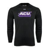ACU Wildcat Under Armour Black Long Sleeve Tech Tee-Softball