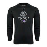 ACU Wildcat Under Armour Black Long Sleeve Tech Tee-Tall Football Design