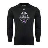 Under Armour Black Long Sleeve Tech Tee-Tall Football Design