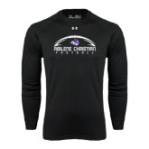 ACU Wildcat Under Armour Black Long Sleeve Tech Tee-Wide Football Design