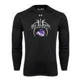 ACU Wildcat Under Armour Black Long Sleeve Tech Tee-Design On Basketball