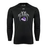 ACU Wildcat Under Armour Black Long Sleeve Tech Tee-Design On Basketball