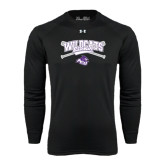 ACU Wildcat Under Armour Black Long Sleeve Tech Tee-Baseball Crossed Bats Design