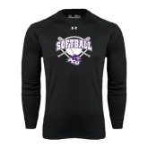 ACU Wildcat Under Armour Black Long Sleeve Tech Tee-Softball Bats and Plate Design