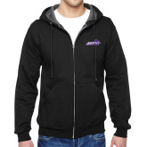 ACU Wildcat Black Fleece Full Zip Hoodie-Primary Logo