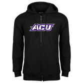 ACU Wildcat Black Fleece Full Zip Hoodie-ACU