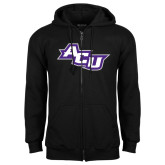 ACU Wildcat Black Fleece Full Zip Hoodie-Angled ACU