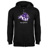 Black Fleece Full Zip Hoodie-Alumni