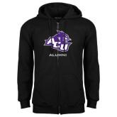 Black Fleece Full Zip Hoodie-Alumni