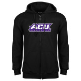 ACU Wildcat Black Fleece Full Zip Hoodie-Baseball