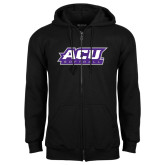 ACU Wildcat Black Fleece Full Zip Hoodie-Softball