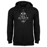 Black Fleece Full Zip Hoodie-Tall Football Design