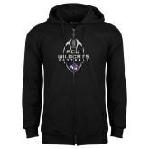 Black Fleece Full Zip Hoodie-Tall Football Design