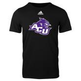 ACU Wildcat Adidas Black Logo T Shirt-Angled ACU w/Wildcat Head
