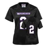 ACU Wildcat Ladies Black Replica Football Jersey-#2