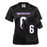 ACU Wildcat Ladies Black Replica Football Jersey-#6