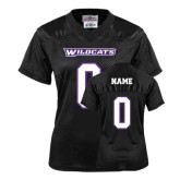 Ladies Black Replica Football Jersey-Personalized #
