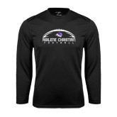 Performance Black Longsleeve Shirt-Wide Football Design