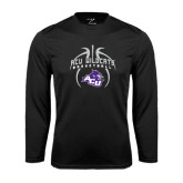 Performance Black Longsleeve Shirt-Design On Basketball