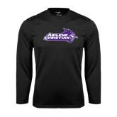 Abilene Christian Syntrel Performance Black Longsleeve Shirt-Primary Logo